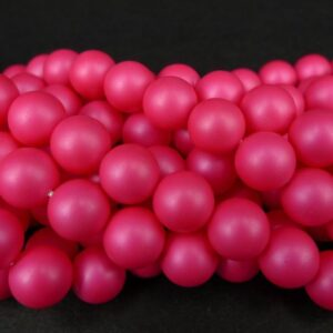Neon pink glasperler 10mm(coatede)