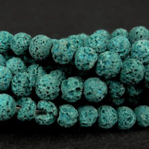 Mørk petrolblå lava 6-7mm
