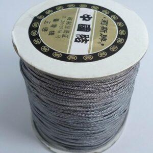Nylon snøre grå, 1,5mm(1meter)