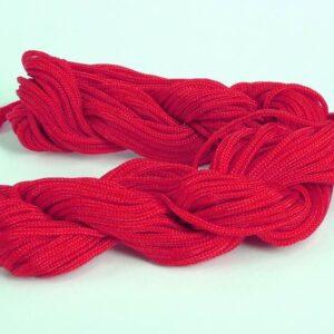 Nylon snøre rød, 1,5mm(pris pr. bundt)(knyttesnor)