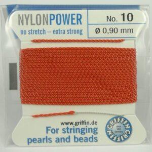 Koral Perletråd med nål, 0,9mm