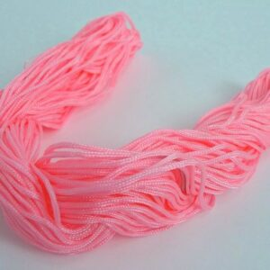 Nylon snøre lyserød, 1,2 mm. (pris pr. bundt)