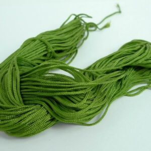 Nylon snøre olivengrøn, 1,2 mm. (pris pr. bundt)