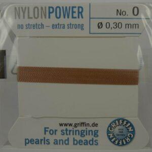 Camel Perletråd med nål, 0,3mm