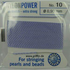 Lavendel Perletråd med nål, 0,9mm