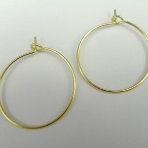 *Små forgyldte hoops 20mm.(25par)