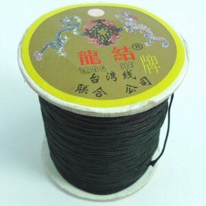Nylon snøre sort, 0,7 mm. (pris pr. 60 meter)