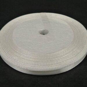 7mm Satinbånd hvid, 20meter