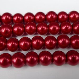 Røde glasperler 8mm(coatede)