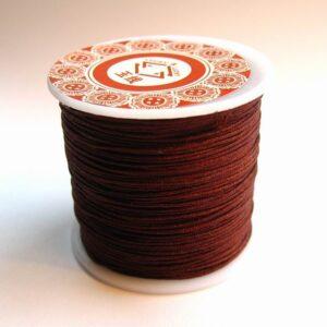 Nylon snøre chokoladebrun, ca. 1mm. (pris pr. rulle)