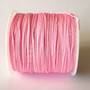 Nylon snøre lyserød, ca. 1mm(pris pr. rulle)