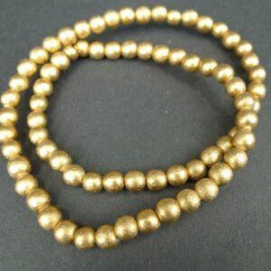 'Guld' perler i træ 6mm