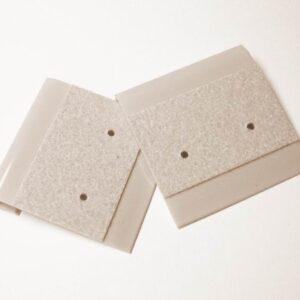 Plastkort til øreringe, grå(20stk)