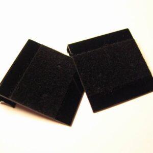 Plastkort til øreringe, sort(20stk)
