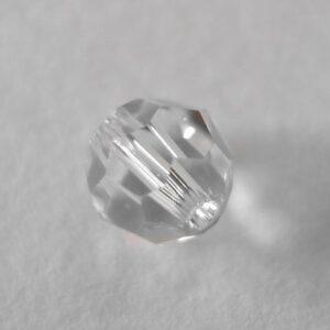 Swarovski rund facet, crystal clear 6mm