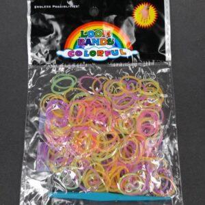 Candy mix elastikker m. låse og hæklenål