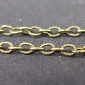'Bronze' ankerkæde, tynd, 1½mm