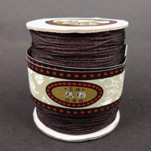 **Nylon snøre Mørkebrun, 1,5mm(pris pr.rulle)