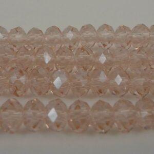 Facetterede krystalrondeller 4x6mm Champagne