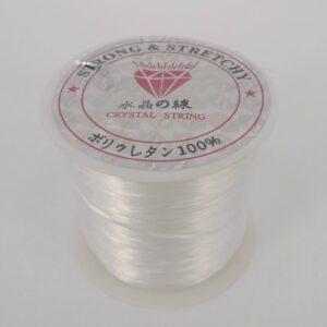 Flad elastiktråd ca. 1mm (ca.60m)
