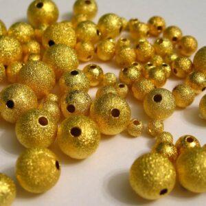 30 stk. Guldfarvede stardustperler 6mm