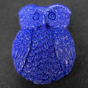 Blå ugle i resin (2.sortering)