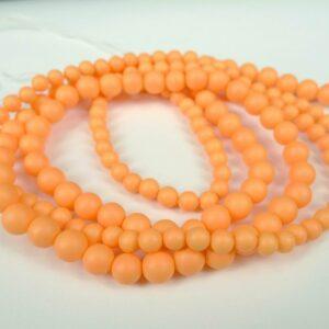 Orange Shell perler 6mm