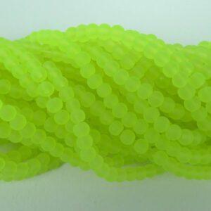 4mm GreenYellow frostede glasperler