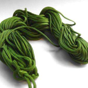 Nylon snøre olivengrøn, 1,5mm(pris pr. bundt)(knyttesnor)