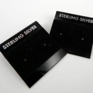 Plastkort til sterling silver, sort(20 stk.)