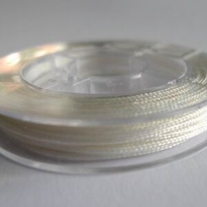 10meter Nylon snøre hvid, 1mm