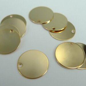Forgyldte mønter 12mm(10stk)