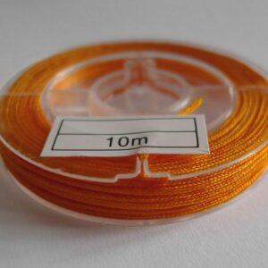 10meter Nylon snøre orange/gul, 1mm