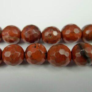 Facetteret rød jaspis 8mm