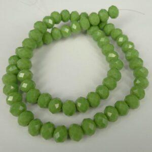 6x8mm Appel Green glasrondeller