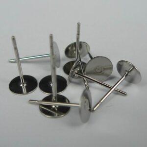 Ørestikker i stål 6mm, 5 par(uden låse)
