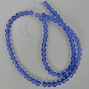 Facet glasperler 4mm, Blå