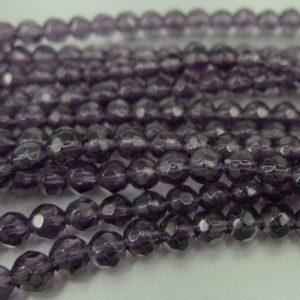 Facet glasperler 4mm, lilla