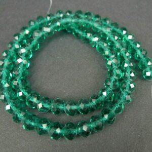 6x8 mm Emerald Green glasrondeller
