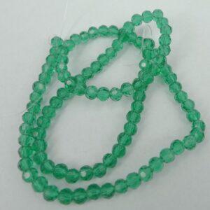 Facet glasperler 4mm, Light Green