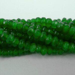 Grønne, Facetterede rondeller i 'jade' 2x4mm.