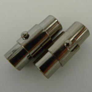 Grå magnetlåse/bajonetlåse 5mm(2stk)