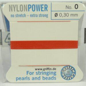 Koral Perletråd med nål, 0,3mm