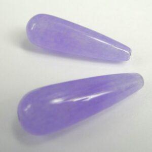 Dråber i lavendelfv. 'jade' 10x30mm.