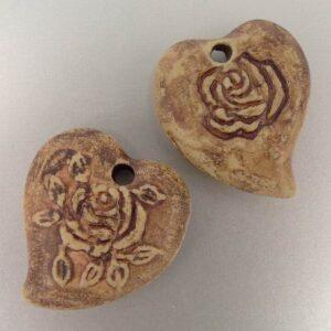 Keramik hjerte 25x29mm