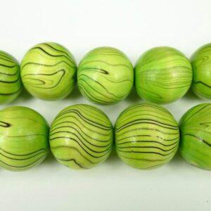 Grønne træperler 25mm