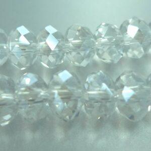 Klare krystalglasrondeller 4x6mm(10stk)
