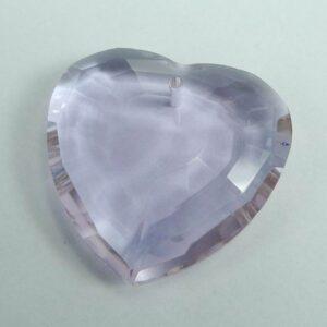 Krystal hjerte, lyslilla 32mm