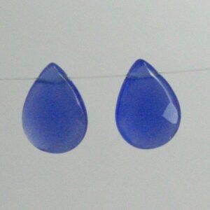Lyse blå glasdråber (2stk.)