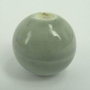 Keramikperle 18mm, grå